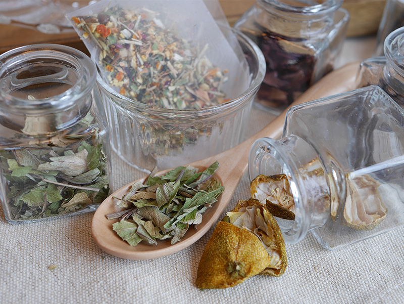 奈良薬膳茶 桃鹿茶 薬膳素材イメージ