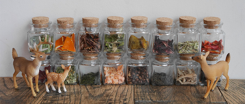 奈良薬膳茶 桃鹿茶16種ブレンド素材