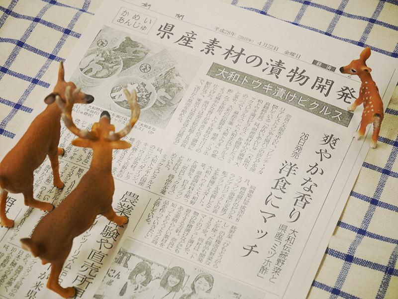 奈良ピックルスが奈良新聞に掲載されました