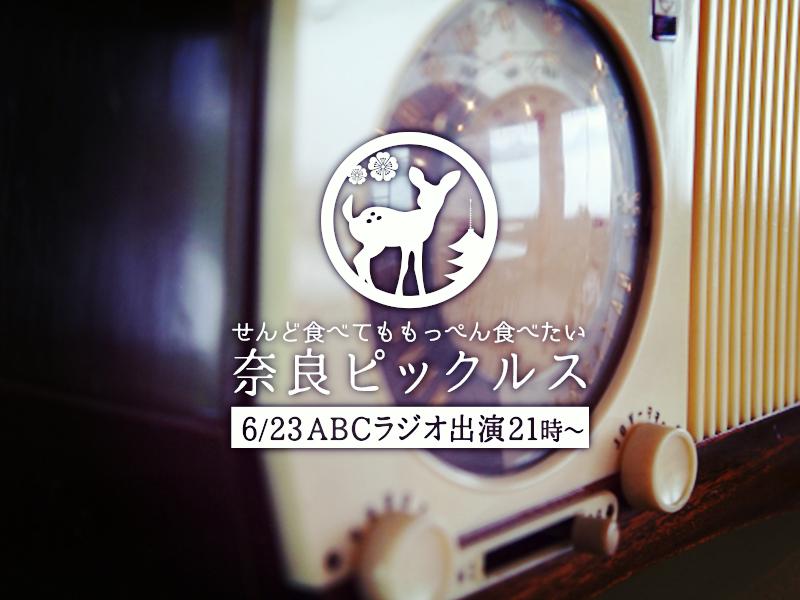 奈良ピックルスABCラジオ出演